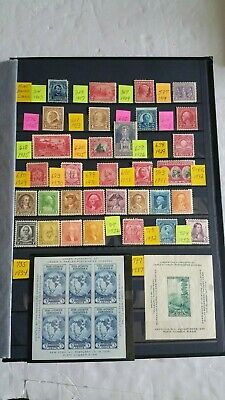 US Lot of 37 Mint Hinged Stamps & Souvenir Sheets