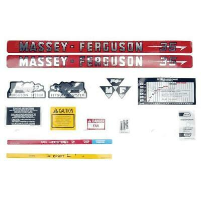 Massey-Ferguson MF 35 MF35 Tractor Basic Decal Set