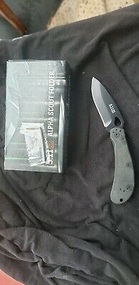 "5.11 TACTICAL ALPHA SCOUT FOLDER G10 HANDLE AUS-8 EDC Folding Knife 3"" Rare HTF"