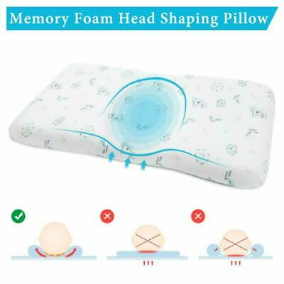 Mokeydou Baby Head Shaping Pillow, Memory Foam Infant Sleeping Pillow, Newborn R