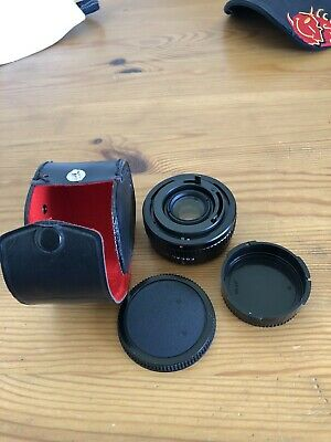 Canon 2x Converter Lens Focal MC 20-06-77 Plus Case and 2 Covers