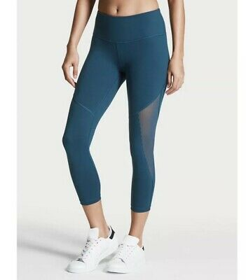 Victoria's Secret VSX Sport Knockout Mesh Legging Scallop Pant Small s Capri