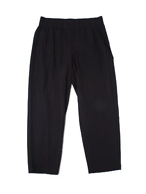 Eileen Fisher Womens Pants Deep Black Size Small S Pull-On Stretch $188 181