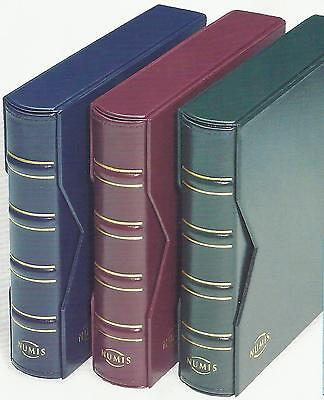 LIGHTHOUSE NUMIS CLASSIC Coin Banknote ALBUM BINDER & SLIPCASE - RED (No Pages)