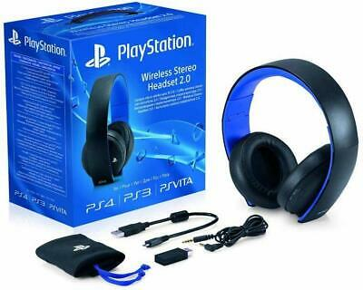 Official Sony PlayStation Wireless Stereo Headset 2.0 - Black (PS4/PS3/PS Vita)