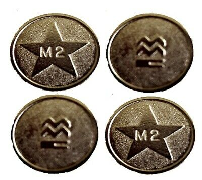 50 x New M2 Silver Sunbed Tokens Compatible with L2 Tanning Token Meter machine