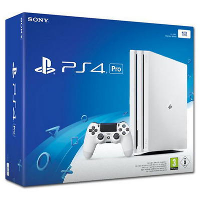 Play Station PS4 Pro - Withe Console 1TB with 1controller BrandNew