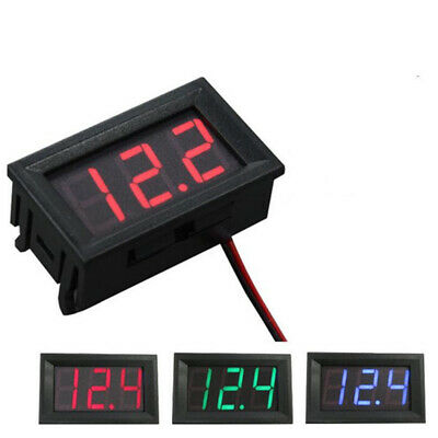 Mini LED 3-Digital Display Volt Voltage Voltmeter Panel Accurate Meter 4.5-30V