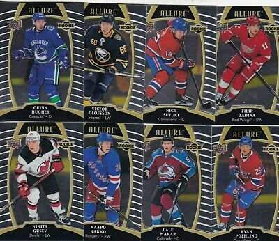 2019-20 19-20 Upper Deck Allure Hockey Rookies Rc's 61-100 Pick Your Player