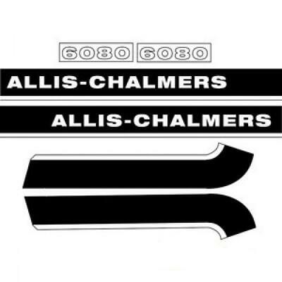 AC6080 New Hood Decal Set Replacement for Allis Chalmers AC 6080 Tractor