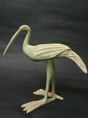 Very Rare Bead Ibis Stone Sculpture Egyptian Antique Thoth God Figurine