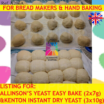 Allinson's FAST ACTION EASY BLEND INSTANT DRY YEAST BREAD DRIED ACTIVE HAND BAKE