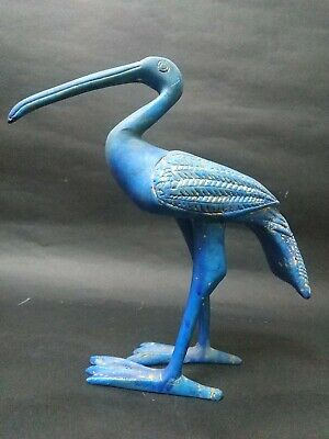 Very Rare Bead Ibis Stone Sculpture Egyptian Antique Thoth God Figurine Bc