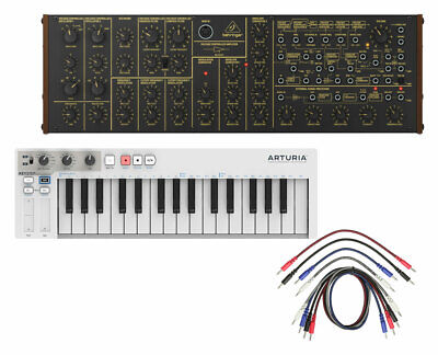 Behringer K-2 Synthesizer + Arturia Keystep + 8 Pack of Patch Cables