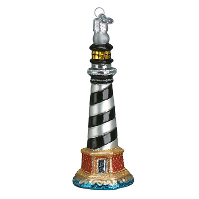 """""""Cape Hatteras Lighthouse"""" (20017)X Old World Christmas Glass Ornament w/OWC Box"""
