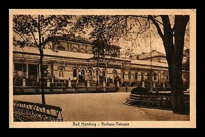 Dr Jim Stamps Bad Homburg Kurhaus Terrace View Germany Postcard