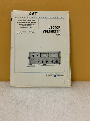 HP 08405-90024 Vector Voltmeter 8405A Operating & Service Manual