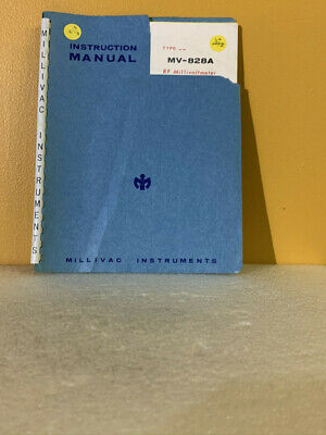 Millivac MV-828A RF Millivoltmeter Instruction Manual
