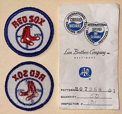 """Vintage Boston Red Sox 2/"""" Sew On Patch Baseball"""