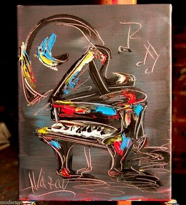 PIANO JAZZ BLACK SAX  Mark Kazav  Abstract Modern CANVAS Original Painting