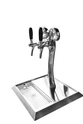 BTS-2W Two Way Beer Tower with Tap, LED Chrome Plated