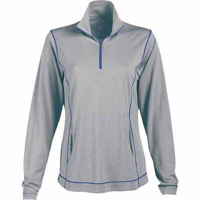 Page & Tuttle Coverstitch Heather Mock Neck Pullover  Athletic Golf  Outerwear