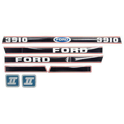 Tractor Decal set for a Ford 3910 Aftermarket Hood Decals Set