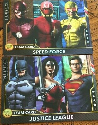Justice League /& Gotham Knights Team Cards FOIL Injustice Arcade Game Dave
