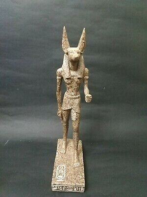 Antique  Anubis Ancient Egyptian God of the Afterlife Figurine Granite 38 cm