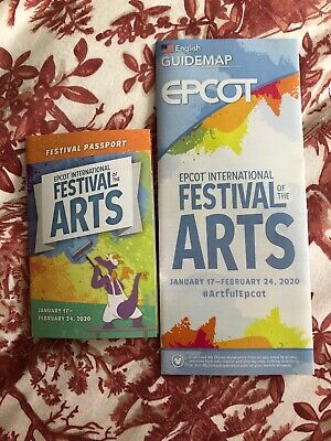 New 2019 Disney World Epcot Festival Of The Arts Guide Map And Passport Stickers 2 50 Picclick