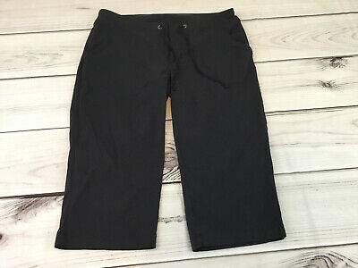 Columbia Womens Capris Crop Pants Black Size 10 Nylon Hiking Athletic
