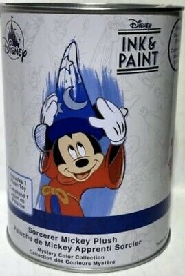 2020 Disney Parks Ink & Paint Sorcerer Mickey Plush Paint Can Mystery Plush