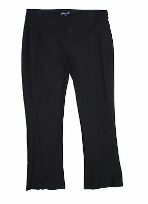 Eileen Fisher Womens Pants Black Size Small S Pull On Knit Stretch $168- 063