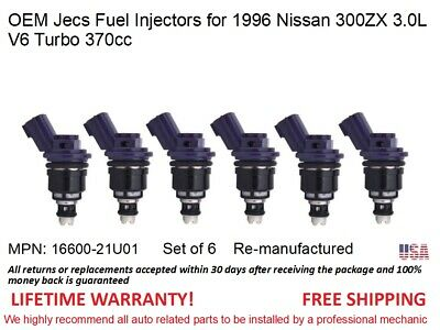 Single 1 OEM Jecs Fuel Injector for 1996 Nissan 350ZX 3.0L V6 Turbo 370cc