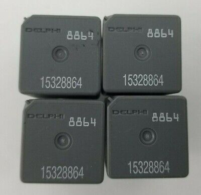Lot of 4 DELPHI 8864 Relay. Part number 15328864. Tested.