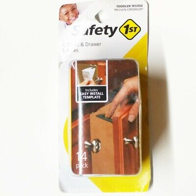 Safety 1st Cabinet & Drawer Latches 14 Pack Child Proofing Made Easy