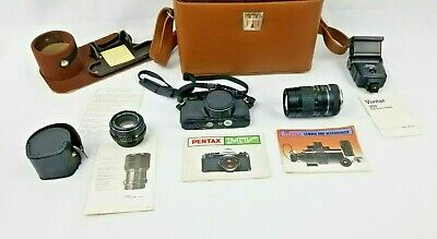 Pentax MV 35mm SLR Film Camera W/ EXTRAS