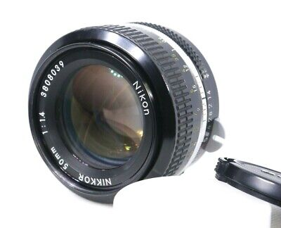 【Excellent+++】 Nikon NIKKOR 50mm F1.4 Non-Ai Lens from Japan
