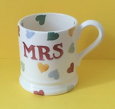 "Emma Bridgewater  ""Mrs"" Mug Present/Gift/Wedding/Birthday  FREE UK P&P"