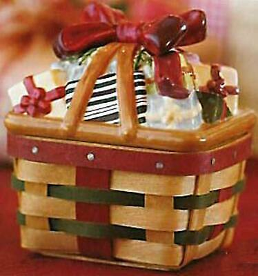 Longaberger Pottery Little Gifts Holiday Topper Lid only for Your Basket 31655:D