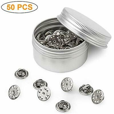50PCS Metal Locking Pin Backs Keepers Clasp Badge Insignia Replacement