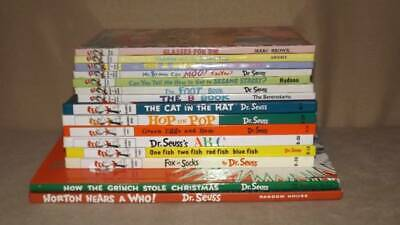 Dr Seuss Lot 15 Books Bright Early Beginner Horton Cat In Hat Grinch Green Eggs