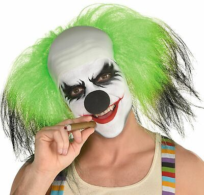 Black and Green Clown Wig Halloween Costume Accessory, One Size