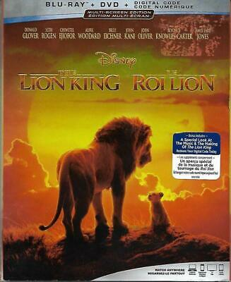 Blu-ray/DVD: The Lion King (with Slip Covrt, 2019, Includes Digital Copy) New