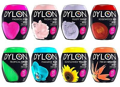 Dylon Machine All-in-one Dye Material Fabric Pods 350 gm Dyes up to 1.8kg Fabric