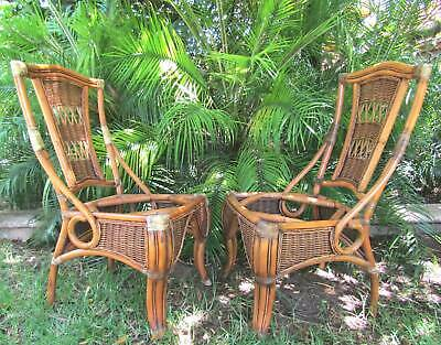 2 x Vintage Garry Masters Cane & Wicker Chairs - Pick up Prospect SA