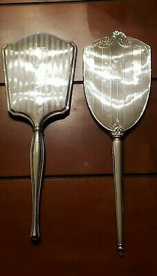 Antique Sterling Silver Hand Mirrors - 501 Grams Total