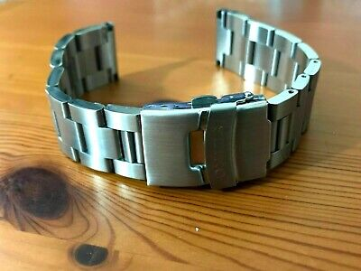 Seiko Oyster Flat Lugs 20Mm Stainless Steel Mens Watch Strap Band Bracelet New