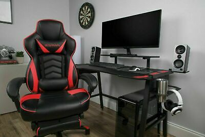 Video Racing Style Gaming Chair, Reclining Ergonomic Leather Chair