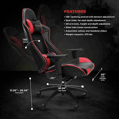 New 105 Racing Style Gaming Computer Chair, RED (RSP-105)